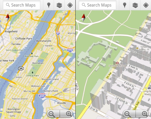 google-maps-5-zoom Google Maps 5 adds 3D vectors