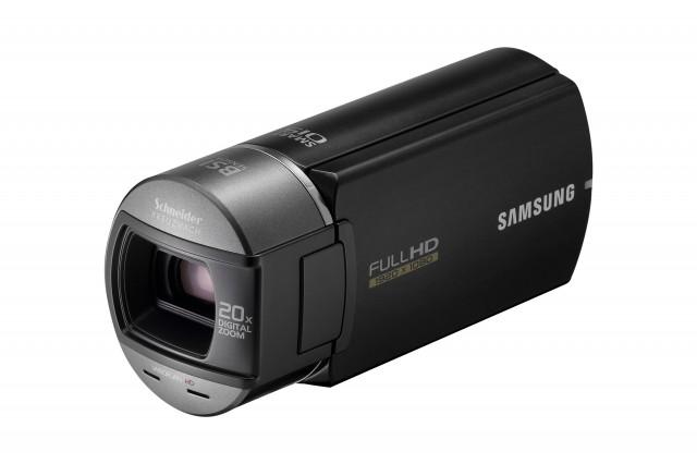 "Q10_FS2_BK-640x426 Samsung's HMX-Q10 ""Lefty"" camcorder ships next month"