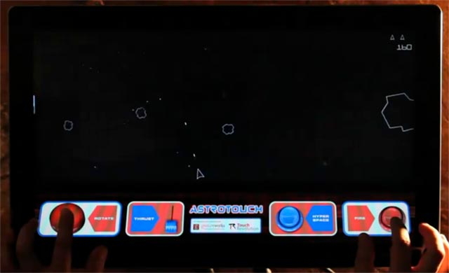 astrotouch-game Astrotouch asteroids game shown off with Touch Revolution TRū Touch Monitor
