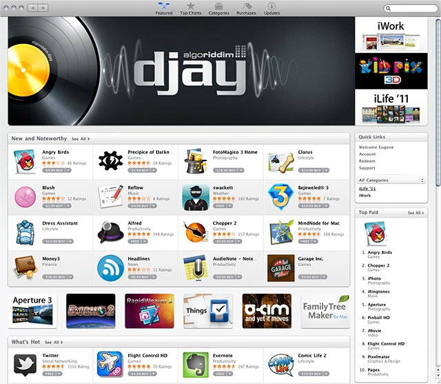macapp-store Opening day for the Mac app store sees 1 million downloads
