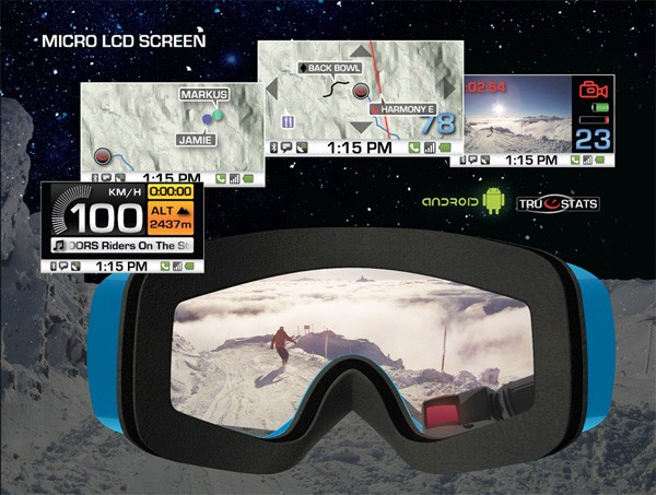 reconandroid Android-powered Recon goggles make snowboarding digital