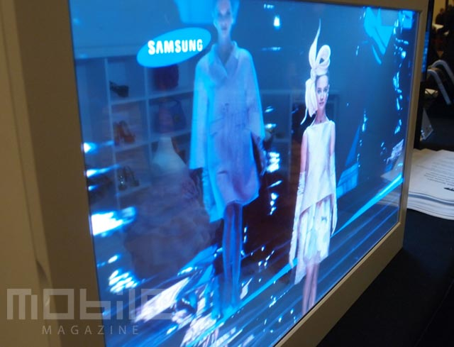 samsung-amoled-19inch-2 At CES with the Samsung 19-inch AMOLED prototype showing 30% transparency