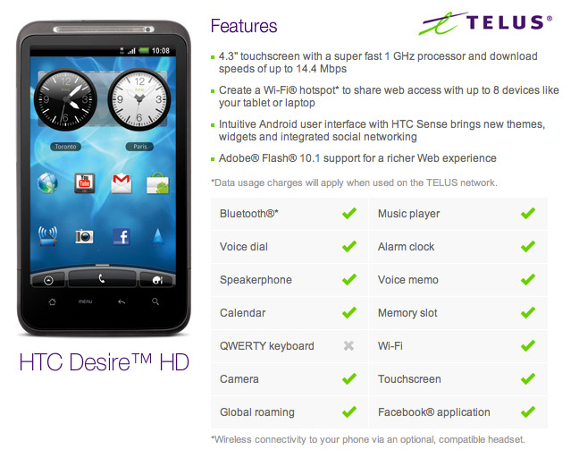 htdesire-hd-telus Telus going big with HTC Desire HD