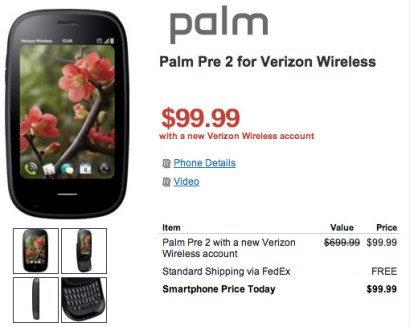 palm-pre2 Palm Pre 2 finally available for pre-order through Verizon
