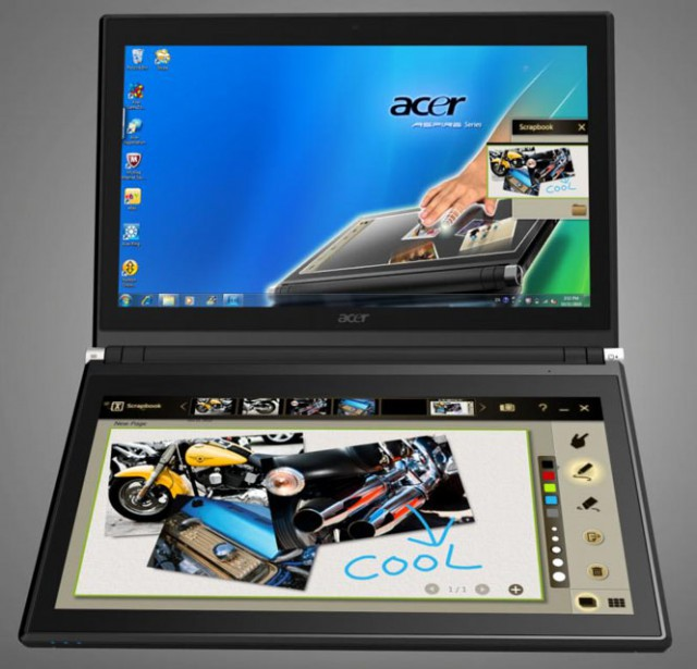 665-iconia-scrapbook-640x615 Acer Iconia Dual Touchscreen Tablet Notebook Available For Pre-Order