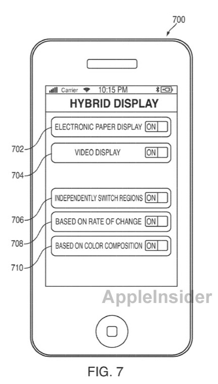 hybrid-display iPhone Patents Show Smart Bezel and Hybrid E-Paper Display