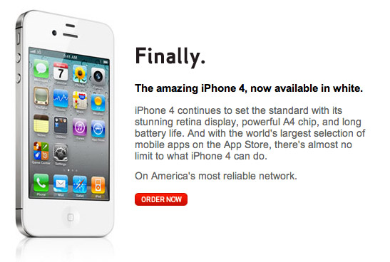 iphone4-white White iPhone 4 is finally here, and..