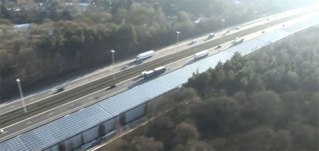 belgian-solar-tunnel Solar Tunnel To Power High Speed Green Train