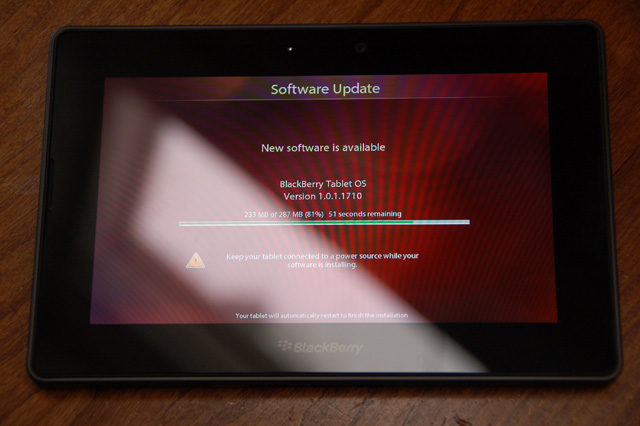 playbook-update Fourth BlackBerry PlayBook Update Available Later This Week
