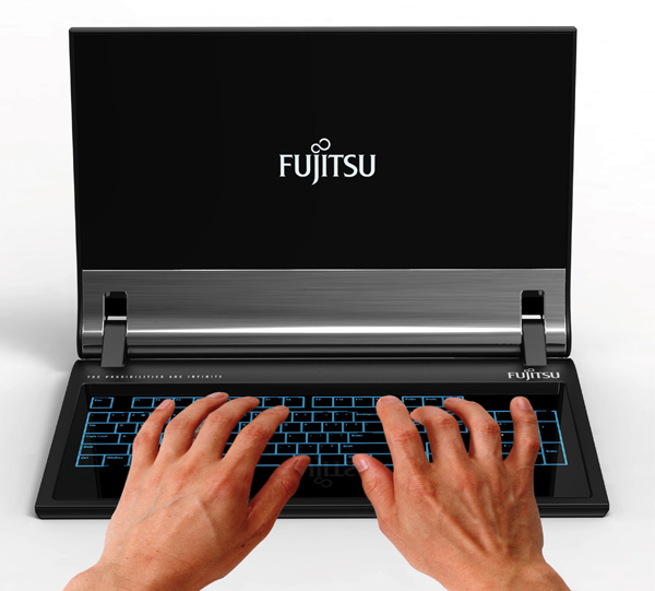 real_notebook2 Fujitsu laptop concept features screen that bends like real paper