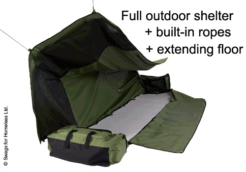 BackpackBed-2 Waterproof backpack bed for homeless weighs only 9 lbs