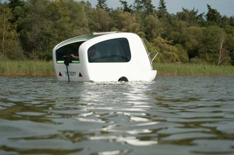 sealander-on-water   Versatile Sealander camping trailer is also a boat and a tent