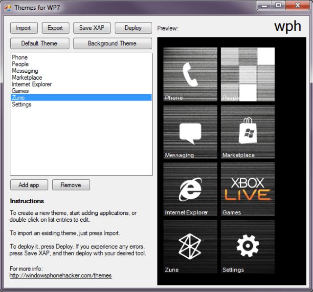 themesappv1 New Program Allows For Windows Phone Customization
