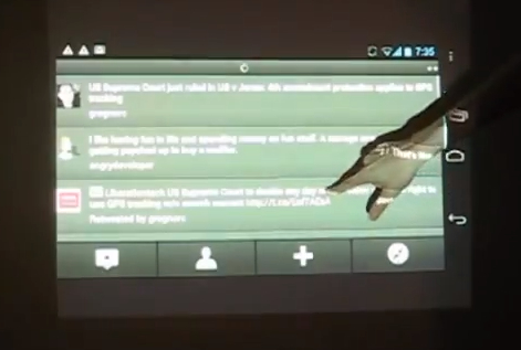 Android-Kinect-Projector Nexus-Kinect Android Frankenhacker Creates Wall Sized Touchscreen