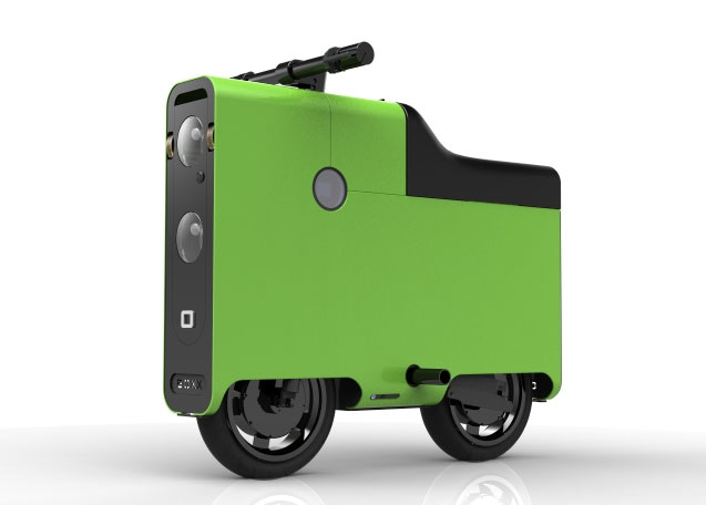 boxx-scooter Suitcase + Batteries + Scooter = Boxx Scooter
