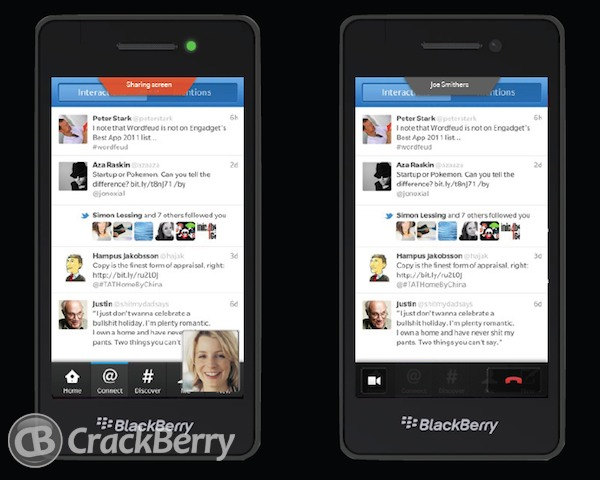"B1 Image Leak Shows Off Possible ""Screen Sharing"" Feature In Blackberry 10"