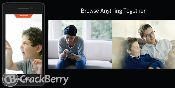 "B31 Image Leak Shows Off Possible ""Screen Sharing"" Feature In Blackberry 10"