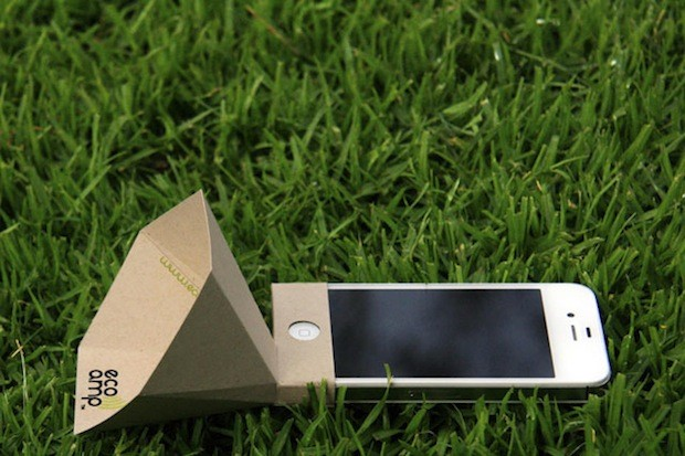 120626-ecoamp1  Amplify Your iPhone Speaker With a Foldable Paper Cone (Video)
