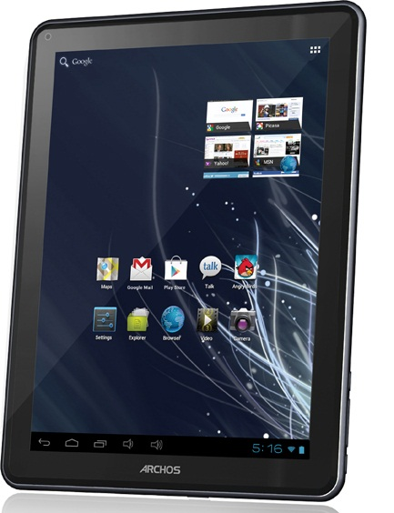 120709-archos  Archos 97 Carbon Android ICS Tablet Challenges Nexus 7