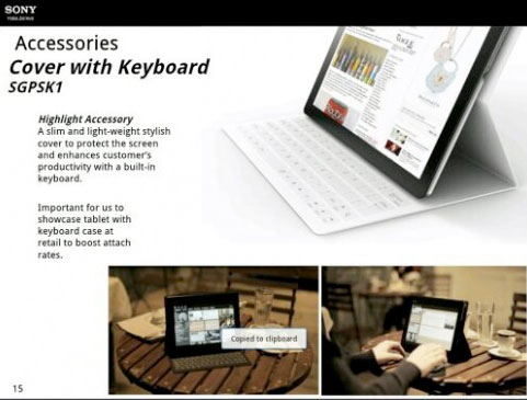 SonyXperiatablet Leaked: New Sony Xperia Tablet With MS Surface-Style Keyboard