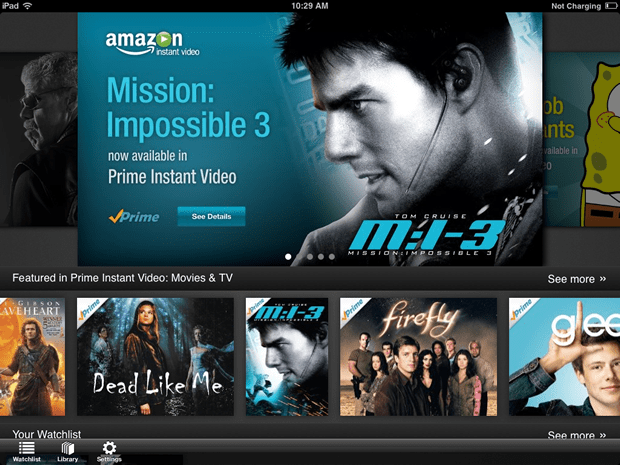amvidi Amazon Instant Video Comes To The iPad