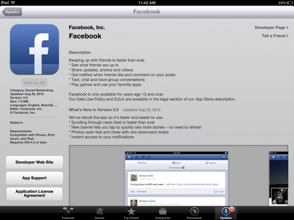facebookupdate The Slow and Awful iOS Facebook App is No More, New Version Brings Major Improvements