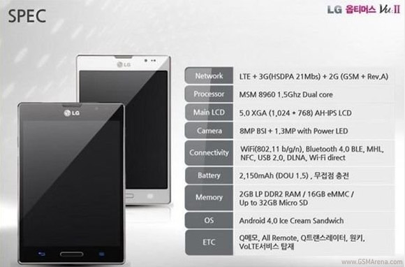 lgvu2 Rumored Samsung Galaxy Note 2 Competitor: LG Vu 2