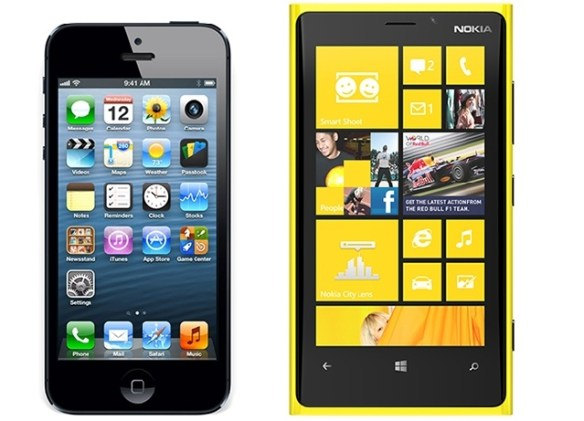 iphone-lumia New Poll Says 22% of Respondents will get a Windows Phone 8 device, tied with iPhone interest