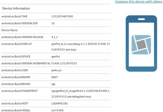 lg-f240 LG F240K Spotted on GLBenchmark, Has a 5-inch 1080p Display