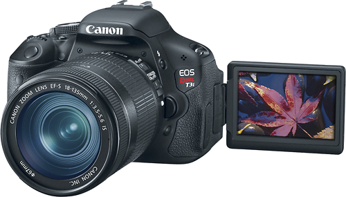 canon_t3i $100 Off Canon EOS Rebel T3i DSLR with 18-55mm Lens and Free Camera Bag