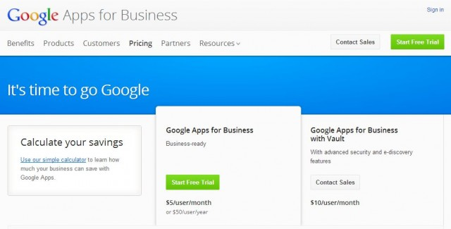 google-apps-640x325 Google Apps No Longer Offering Free Option