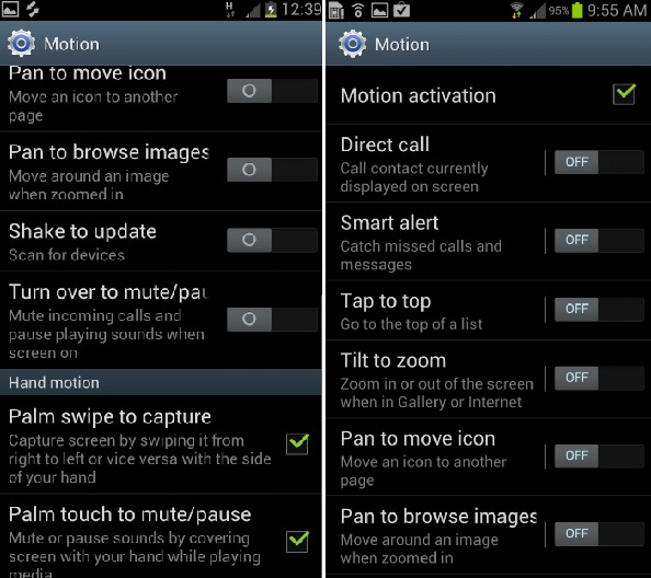 s3-motions  Maximizing Your Samsung Galaxy S3: Using Gestures and Motions