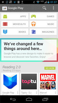 newplay31 Redesigned Google Play and Babel leaks turn up