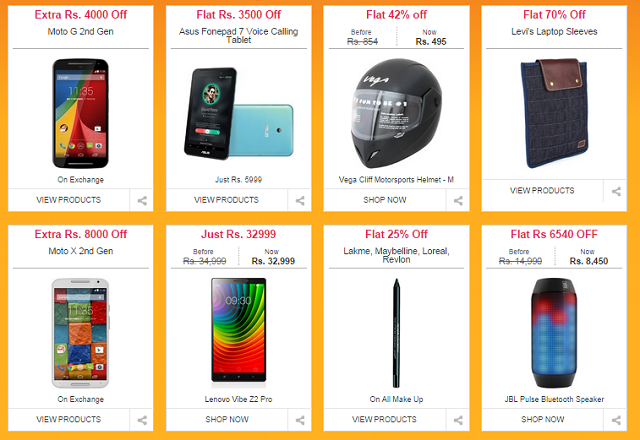 flipkart-sale Flipkart 'Big Billion Day' Sale Begins