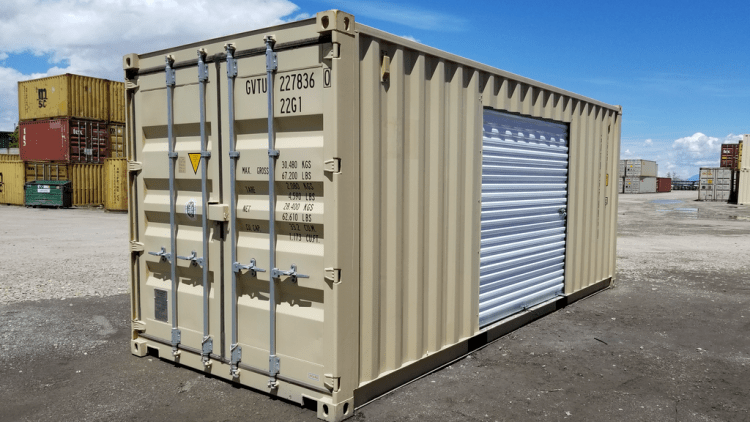 modified 20' shipping container