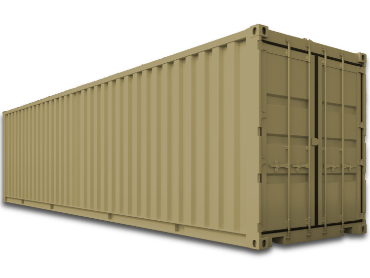 new / 1-trip 40' shipping container
