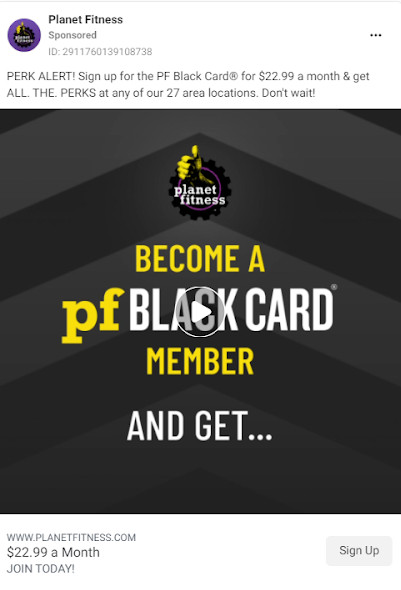 Planet Fitness ad