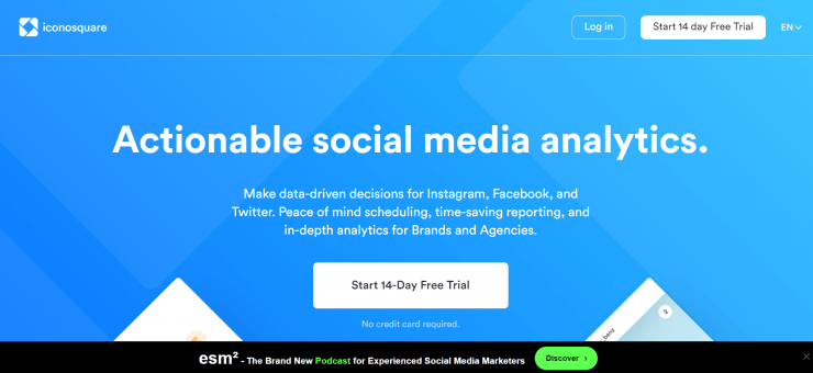 Iconosquare homepage screenshot
