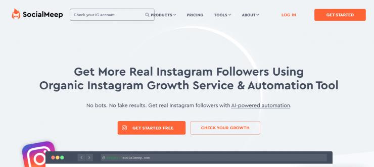 SocialMeep homepage screenshot