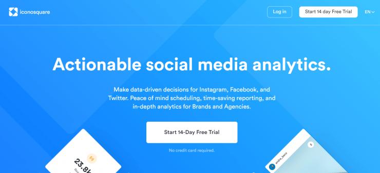 Iconosquare app home