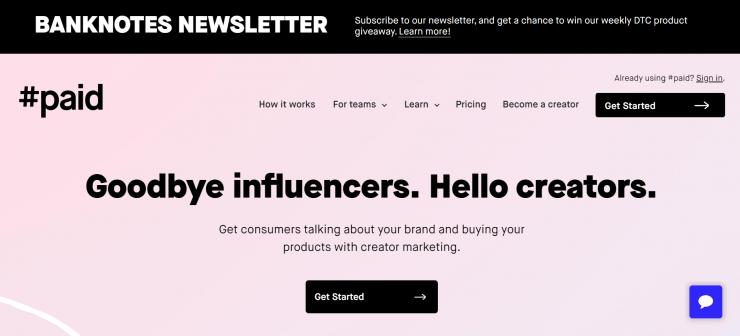 #paid influencer marketplace