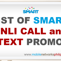 List of Smart Unli Call and Text Promo 2016 2
