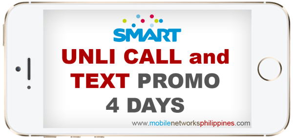 Smart Unli Call and Text 4 Days Promo
