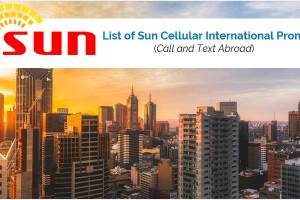 List of Sun Cellular International Promos