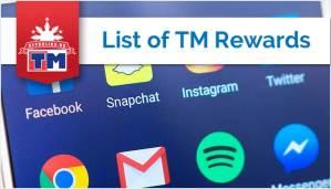 List of TM Rewards