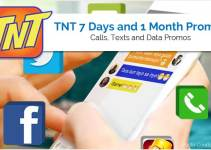 TNT 7 Days and 1 Month Promos 2018