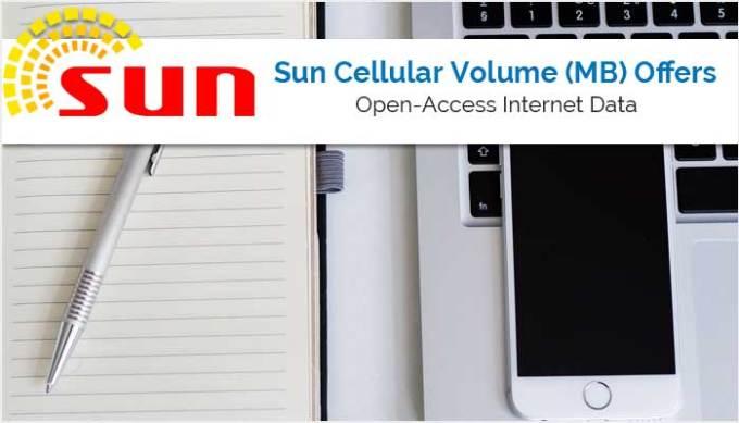 Sun Cellular Internet Data Volume (MB) Offers