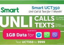UCT350 - Smart Unlimited Call and Text Promo for 1 Month