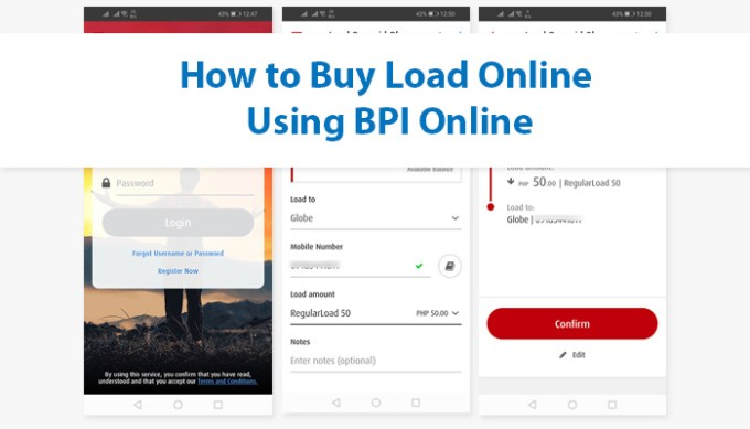 Buy Load using BPI Online