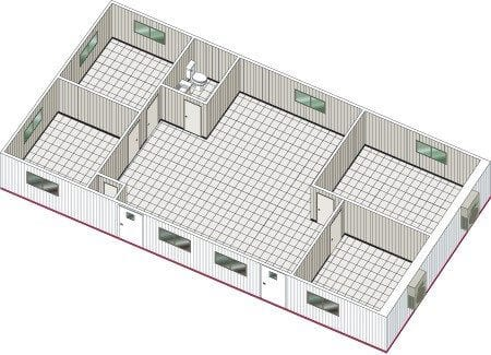 double-wide-office trailer design